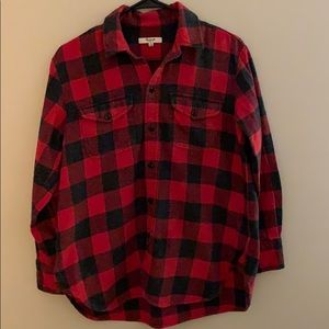 Madewell flannel top